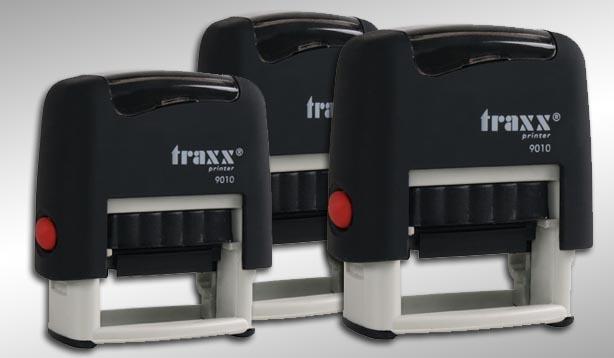 σφραγίδες traxx μηχανικές με 5 γραμμές και μπλε μελάνι